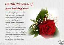 On The Renewal Of Your Wedding Vows Personalised Gift Vow