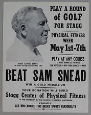 Cardboard Broadside from Golf Tournament for Alonzo Stagg: Beat Sam Snead, 1962