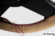 Fits LAND CRUISER 90 beige volant en cuir perforé couvrir violet Stitch