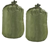 2 Genuine US Military Waterproof Clothing / Gear bags with string ties