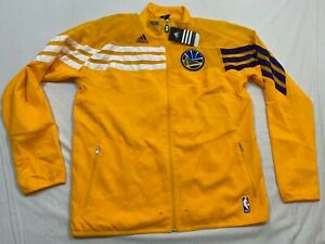 M95 FLAWED RARE Golden State Warriors Track Jacket Full Zip Jersey MEN'S L