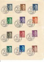 Lot Stamp Germany Poland WWII 1941 Third Reich Hitler Krakau CTO