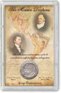 Monroe Doctrine Commemorative Half Dollar Display With Coin