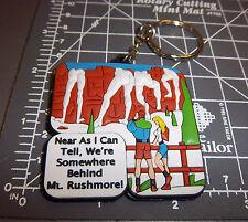 """somewhere behind"" Mt Rushmore south Dakota Rubber Keychain, Fantastic Souvenir!"