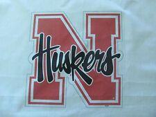 1 Nebraska Cornhuskers FOOTBALL LOGO ON 18X18 SEWING BLOCK QUILT SQUARE