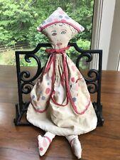 Antique Vintage Doll Clothespin Holder Folk Art
