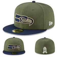 New Era Seattle Seahawks 5950 Ajusté Chapeau NFL Officiel On Field Olive Vert