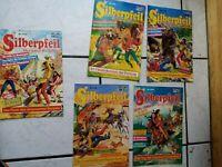 Silberpfeil  -  Bastei  Comic Hefte  5 Stück-  724,719,723,720,716