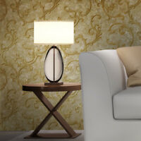 Wallpaper Victorian Vintage Damask Sand Gold Metallic textured wallcoverings 3D