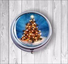 CHRISTMAS TREE #2 PILL BOX ROUND METAL - ser3Z