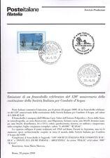 ITALIA 2000 CONDOTTE D'ACQUA   BOLLETTINO COMPLETO DI FRANCOBOLLI FDC