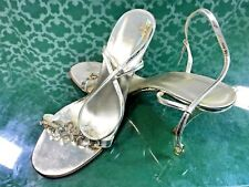 Badgley Mischka Gold Floral Sandal Heels - Sz. 41 (US 10 - 10.5)