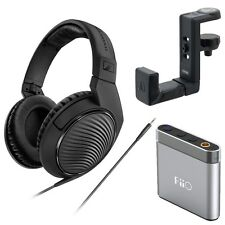 SennheiserHD 200 Headphones FiiOA1 Headphone Amp +AT-HPH300 Headphone Hanger��