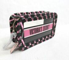 Victoria's Secret Diamond Logo Clear Transparent Zip Beauty Cube