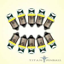 (10 Pack) - 6.3 Volt LED Bulb Concave 44/47 Base (BA9S) Pinball - YELLOW