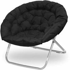 Oversized Large Saucer Moon Chair Dorm Den TV Living Room Folding Seat Round NEW