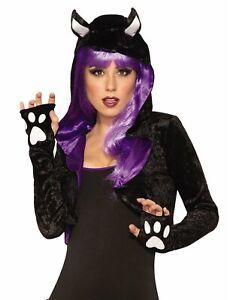 Black Cat Womens Adult Cute Animal Shoulder Cover Costume Shrug-Std