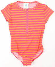 Roxy Youth Girls Sunset To Sunrise Rashgaurd Full Suits Pink Stripe 7 New