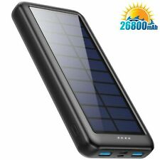 Solar Power Bank 26800mAh, Solar Charger【3 Input & 2 Output】 Portable...