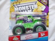 MONSTER JAM TRUCK RANDY BROWN GRAVE DIGGER GREEN 30TH ANNIVERSERY WITH 30TH FLAG