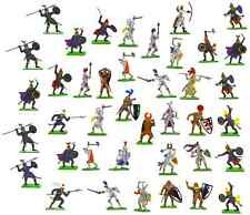 Britains Deetail Medieval Painted Plastic Toy Soldier Collection - 40 figures!