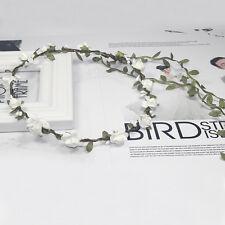 Bunte Haarband Boheme geflochten Blumen Haarreif Stirnband Hippie Kopfband New