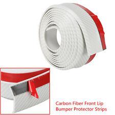 White Carbon Fiber Style Car SUV Front Bumper Spoiler Lip Rubber Protector Strip