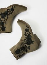 NEW Free People x Vic Matie 'Black Roses' Sock Ankle Boots Size 39 / 8 8.5