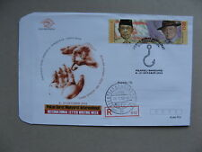 INDONESIA, R-eventcover 2003, letter writing week, stamp Baden Powell scouting
