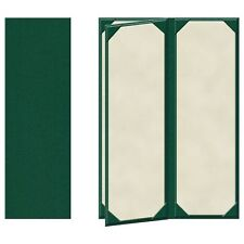 """25 Four Panel, Four View Menu Covers - 14"""" x 4.25"""" in Green (PZA-440GRP-P)"""
