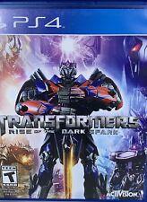 ☆ Transformers: Rise of the Dark Spark (Sony PlayStation 4, 2014) CIB ☆
