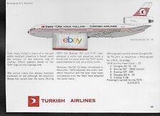 TURKISH AIRLINES TURK HAVA YOLLARI DC-10 D.C.NICHOLS TECH DRAWING & HISTORY 1977