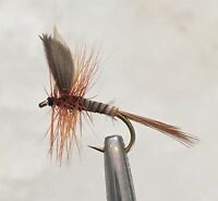 DAD'S FAVOURITE  - MIXED DOZEN DRY FLY FISHING FLIES - 6  x #14 + 6 x #18