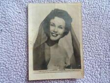 DEANNA DURBIN 1940's Real Photo Postcard - Singer Movie Star