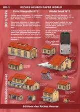Livre maquette HO n°1 - Petites gares  : 17 bâtiments à assembler