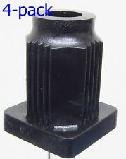 """Oajen caster socket for 7/16"""" diameter grip ring stem, 4 pcs, 1"""" OD square 16 ga"""
