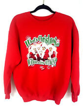 I Love Lucy Christmas Sweater pullover Red