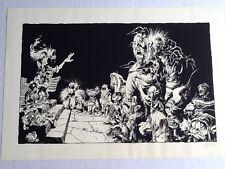 """ARTHUR QWAK SERIGRAPHIE SIGNÉE 1989 """"SOLEIL des LOUPS"""" 48x70cm genre LOISEL,JODO"""