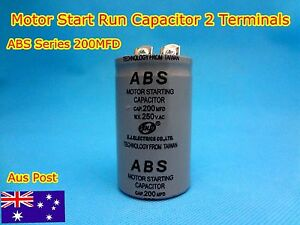 ABS Series 250VAC 200MFD Motor Start Run Capacitor 2 Terminal (G151) - Brand New