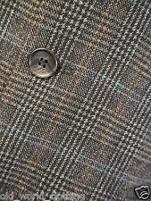 Larusso Braun/Blau & Red Pow Wollmischung Tweed Jacke 2XL/UK 46/lang