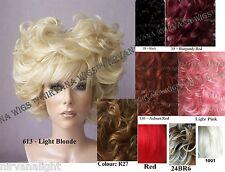 Heart Shape Drag/Womens Wig Black, Blonde, Auburn Red U Choose