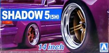 "Aoshima 1/24 Shadow 5 (5H) 14""  Wheel Rims & Tire Set for Models 5437 (66)"