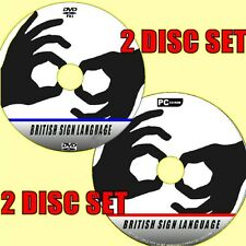 BRITISH SIGN LANGUAGE FOR BEGINNERS BSL LESSONS LEARN SIGNING VIDEO DVD + PC-CD