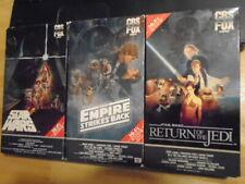 VERY RARE CBS FOX Star Wars 3x BETA betamax film ORIGINAL TRILOGY all red label