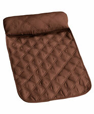 NEW Brown Quilted Neck Pillow For Back of Recliner Chair Padded Head Rest