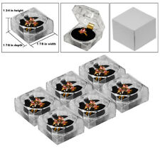 6 Crystal Style Clear Ring Gift Boxes Jewerly Ring Gift Boxes Ring Box Holder