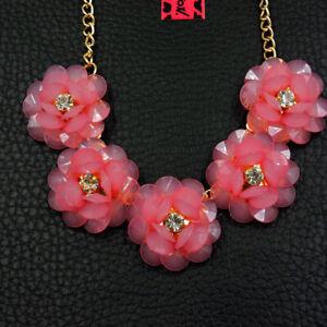 Betsey Johnson Fashion Jewelry Beauty Flower Gemstone Choker Necklace