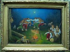 "Oil painting ""Night walk in the mountains"" Ukraine"
