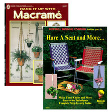 Macramé Books - Hang It Up & Have A Seat - Diy Beginner Help Knotting Weaving