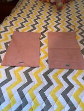 "New MIU MIU Made in Italy Small 13"" x 8.5"" Two Pink Authentic Shoes Dust Bags."